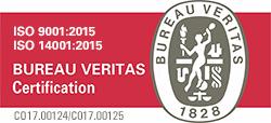 Certificados en ISO 9001:2015 e  ISO 14001:2015